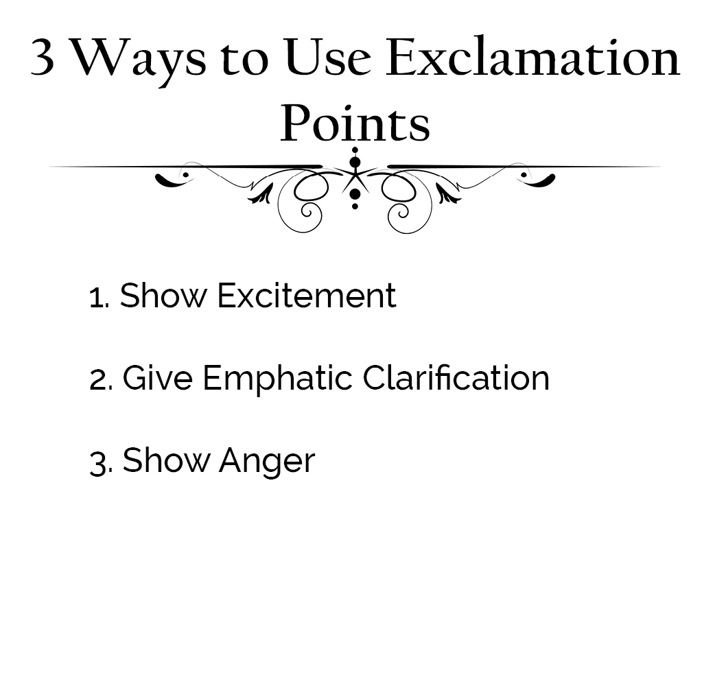 How To Use Exclamation Marks The Visual Communication