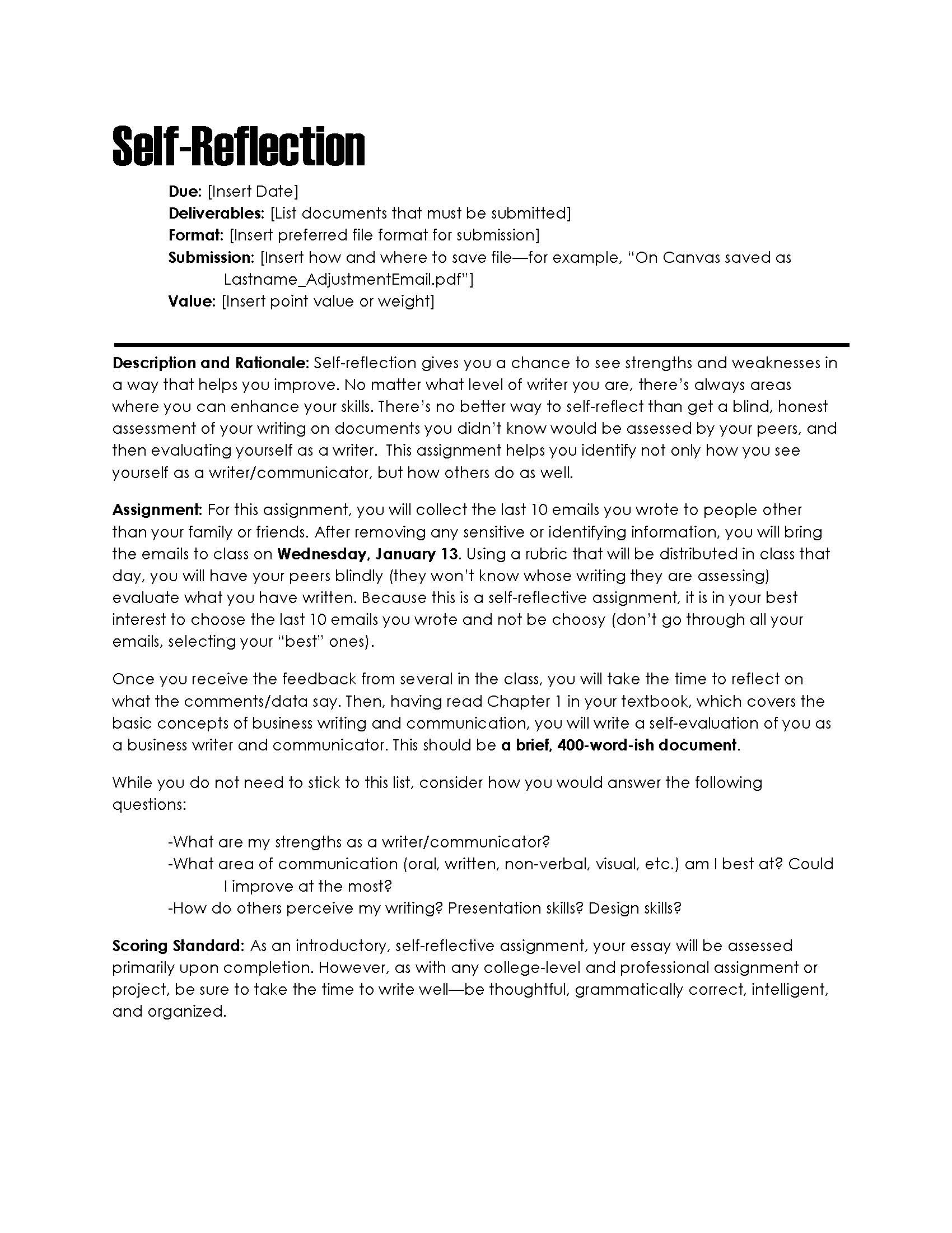Reflection On Oral Presentation