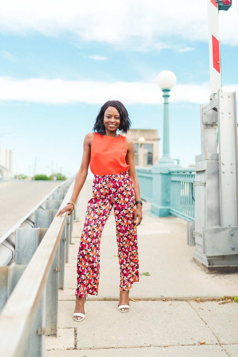 Bold Printed Calvin Klein Pants from Marshalls