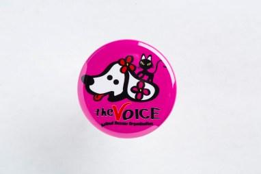 ピンク:ぼいす柄(犬ピューイと猫NYAO)