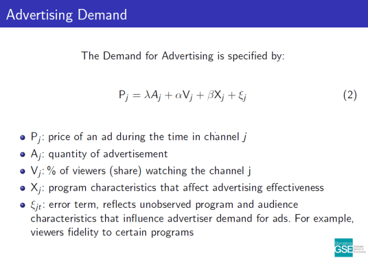 Logit estimation of Advertising Demand. Download the paper to read text version.