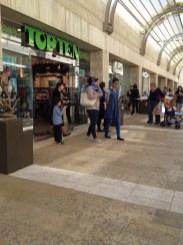 inside Jerusalem Mall/young Arab family