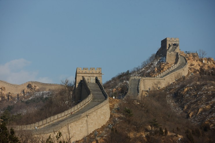 View of the Great Wall of China during President Barack ObamaÕs visit to Badaling, China, Nov. 18, 2009. (Official White House Photo by Lawrence Jackson) This official White House photograph is being made available only for publication by news organizations and/or for personal use printing by the subject(s) of the photograph. The photograph may not be manipulated in any way and may not be used in commercial or political materials, advertisements, emails, products, promotions that in any way suggests approval or endorsement of the President, the First Family, or the White House.