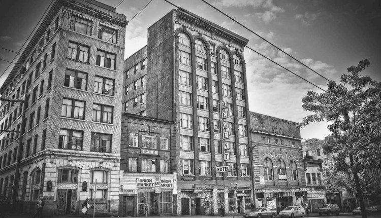 Downtown eastside hotels.