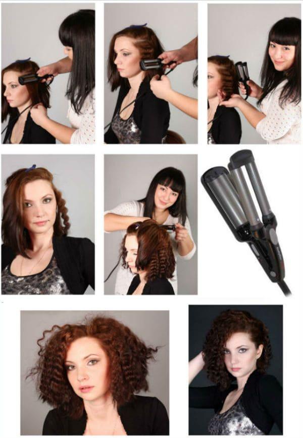 Как сделать волны на волосах: на короткие, средние ...