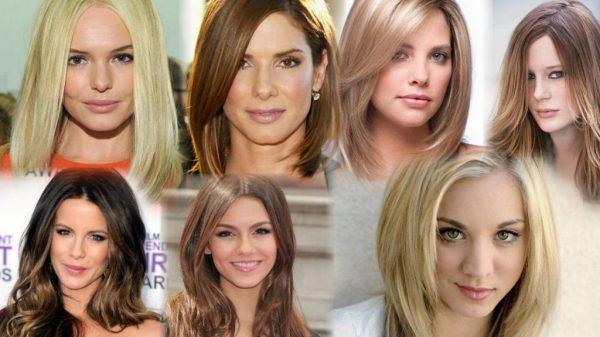 Стрижки на средние волосы с челкой (154 фото)