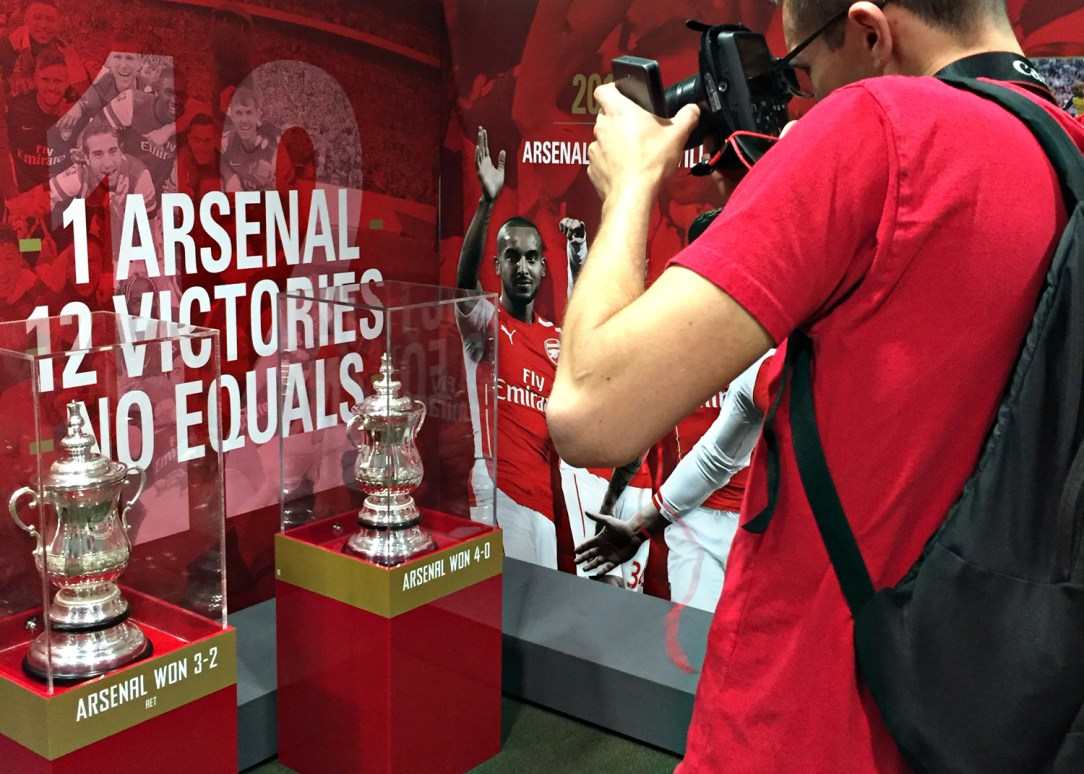 Trophies: Visiting Emirates Stadium