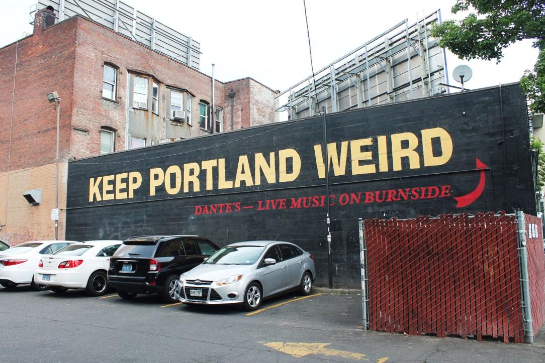 "The famous ""Keep Portland Weird"" sign"
