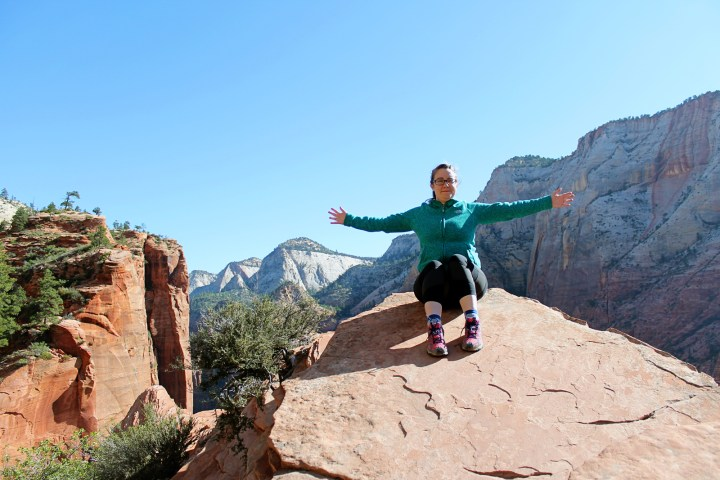 Sitting on top of the world in Zion National Park