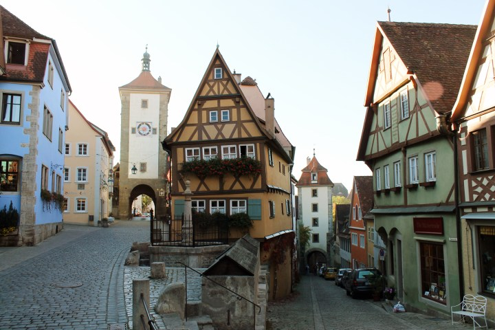 Rothenberg ob der Tauber half-timbered house