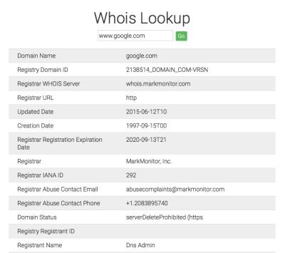 Free WHOIS IP Lookup Tool