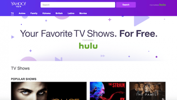 Unblock Yahoo View outside USA Watch Free Hulu Shows
