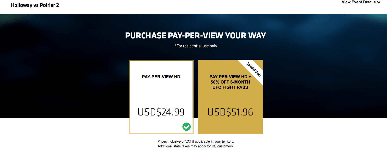 UFC Fight Pass Blackout Workaround