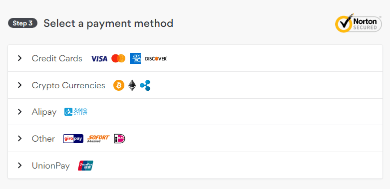 NordVPN Payment Methods