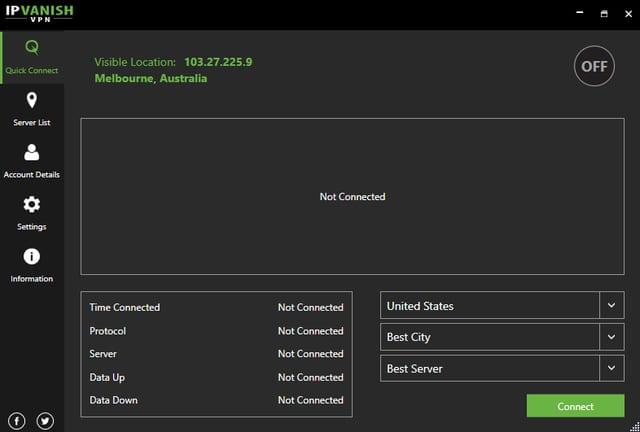 IPVanish VPN App Interface 2