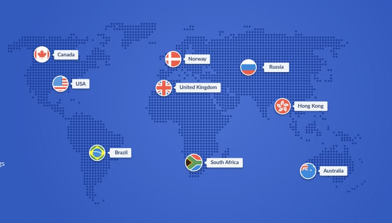 SaferVPN Server Locations
