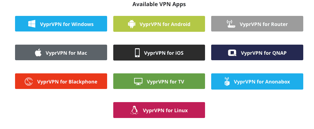 VyprVPN Apps and Clients