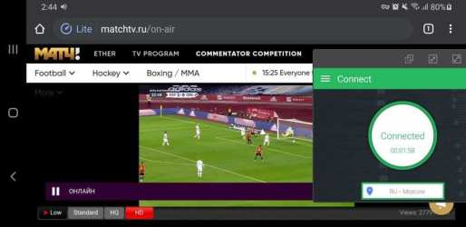 Match TV BulletVPN