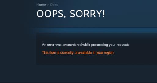Steam Location Error