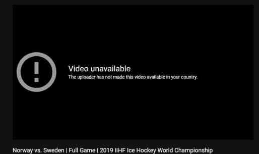 IIHF Youtube Block