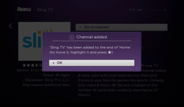 Sling TV added