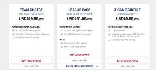 NBA League Pass Subsription