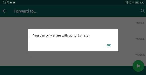 WhatsApp Forwarding Limit