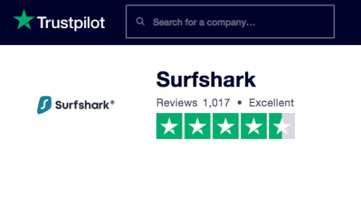 SurfShark Review TrustPilot