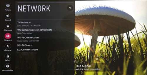 LG Smart TV Network