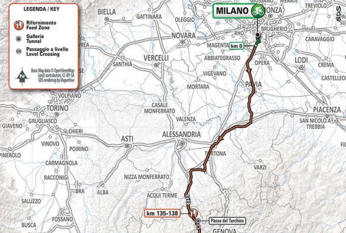 Milan San-Remo Map