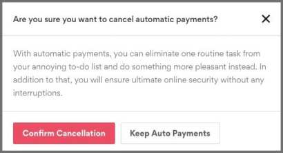 Cancel Automatic Payment