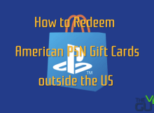 Redeem American PSN Gift Card outside the US