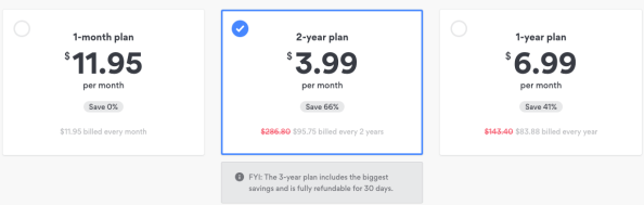 NordVPN, Choose a Plan