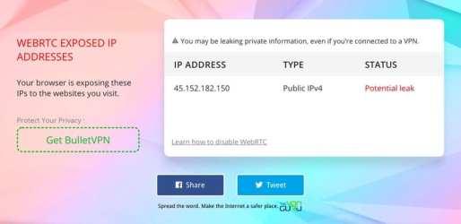 WebRTC Leak Proton