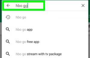 HBO Go search