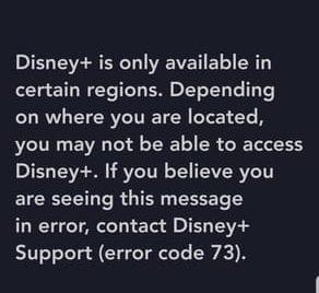 Disney+ Error Android
