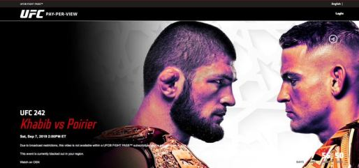 Stream UFC in the Middle East