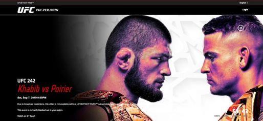 UFC 242 in the UK