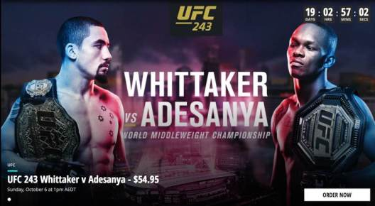 UFC 243 in Australia
