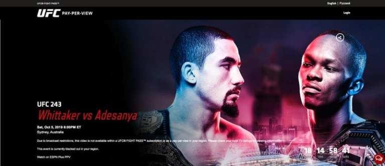 UFC 243 Whittaker