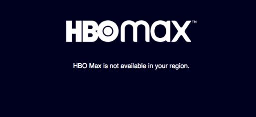 HBO Max New Error