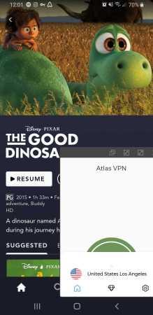 Disney+ Atlas VPN
