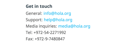 Support Hola