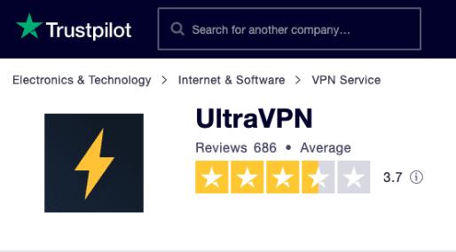 UltraVPN Trustpilot