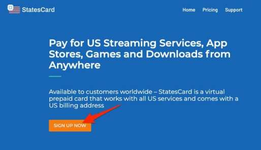 StatesCard Sign Up