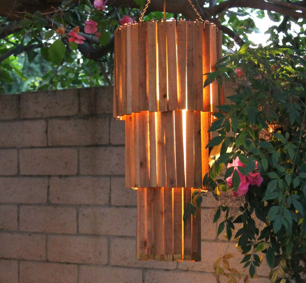 Make An Outdoor Rustic Chandelier An Easy DIY The V Spot