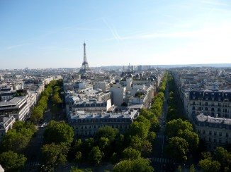 Views from the Arc de Triomphe towrads the Eiffel Tower