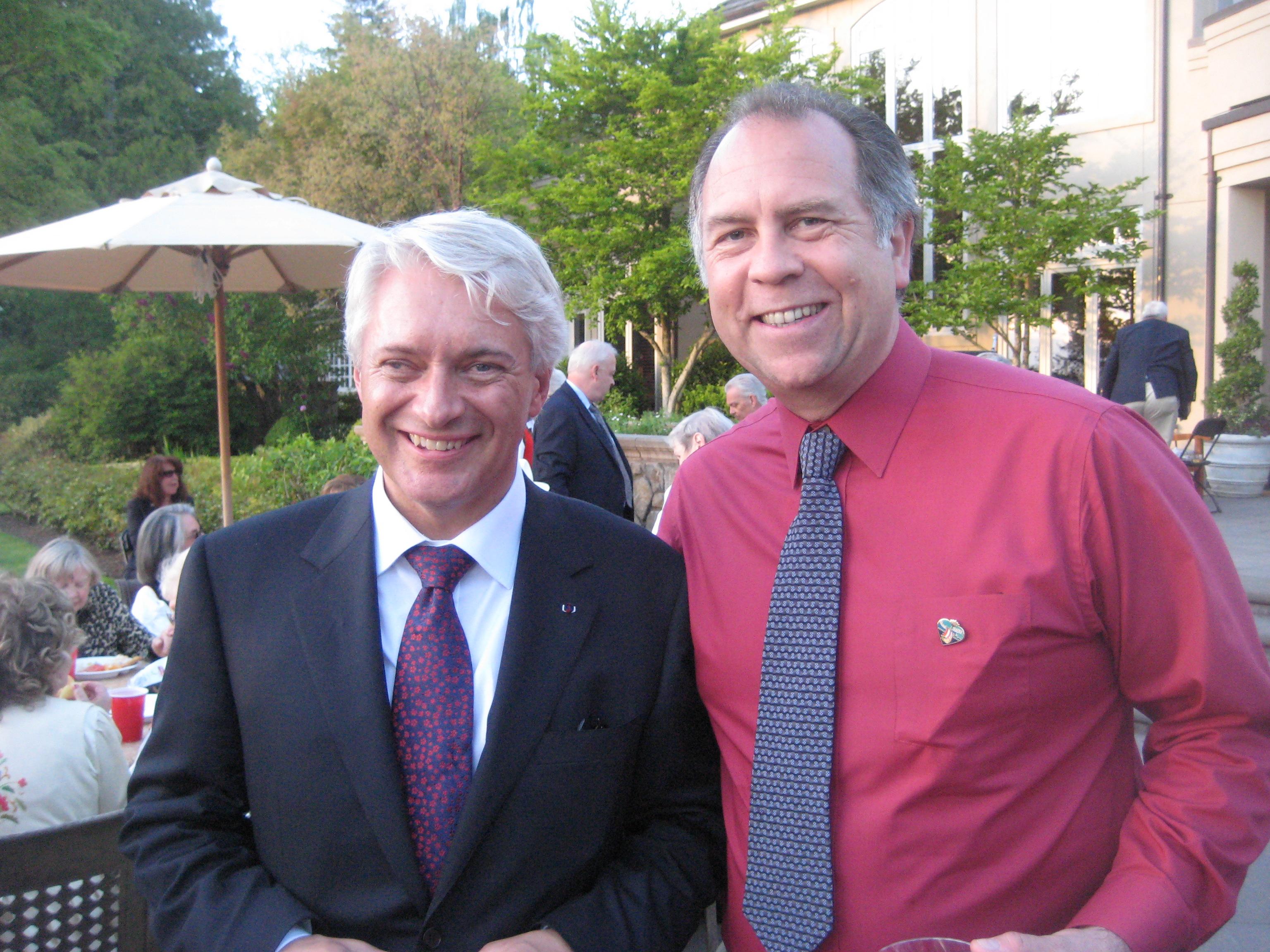 Ambassador Wegger Strommen and moi