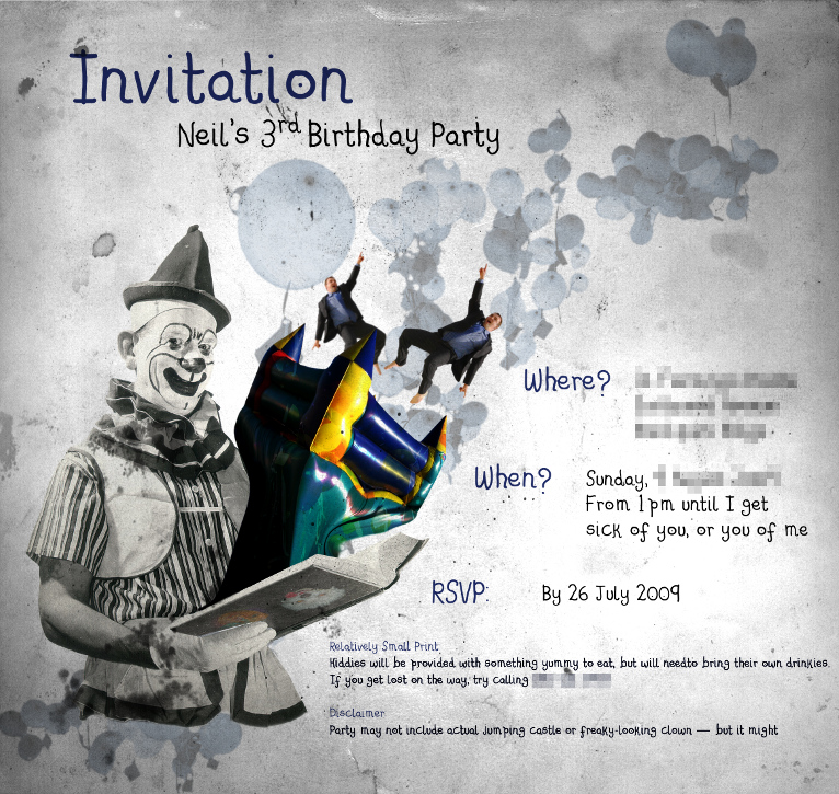 3rd Birthday Invitation