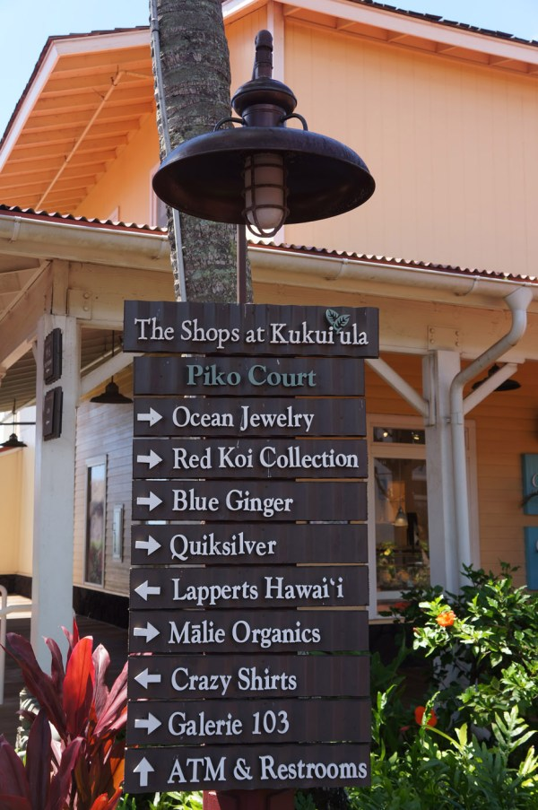 photograph of store directory
